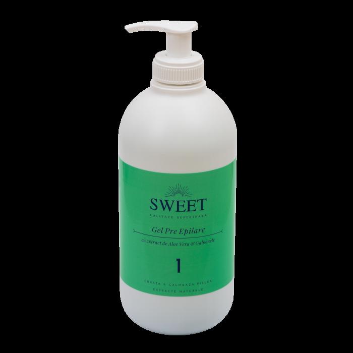 Gel pre epilare aloe vera & galbenele Sweet 500ml